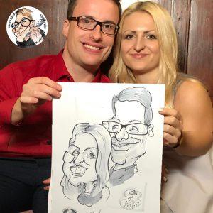 die besten Hochzeitsgeschenke Karikaturist Herr Fred