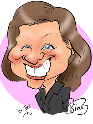 digitale Karikatur zeichnen lassen social media Profilbild
