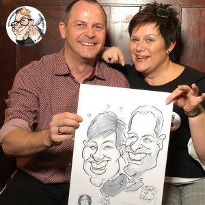 Herr Fred Hochzeitskarikaturist Schnellzeichner für Hochzeiten buchen