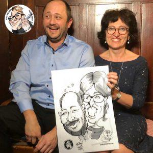 Herr Fred Karikaturist Hochzeit Schnellzeichner für Hochzeiten Live
