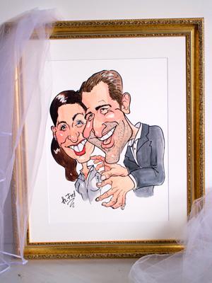 Karikatur Geschenk Hochzeit Herr Fred Zeichnung