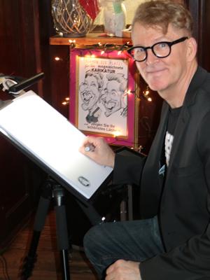 Karikaturist Hochzeit Gala Geburtstag Herr Fred