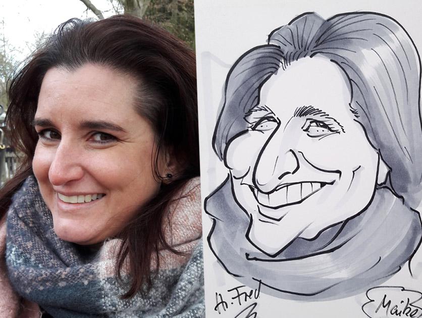 Karikaturist Herr Fred zeichnet live Ihre Gäste auf Hochzeit und Messe