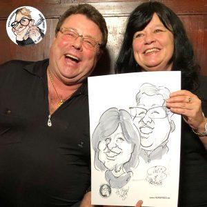 lustige Ideen für die Hochzeit Karikaturist Herr Fred Schnellzeichner buchen