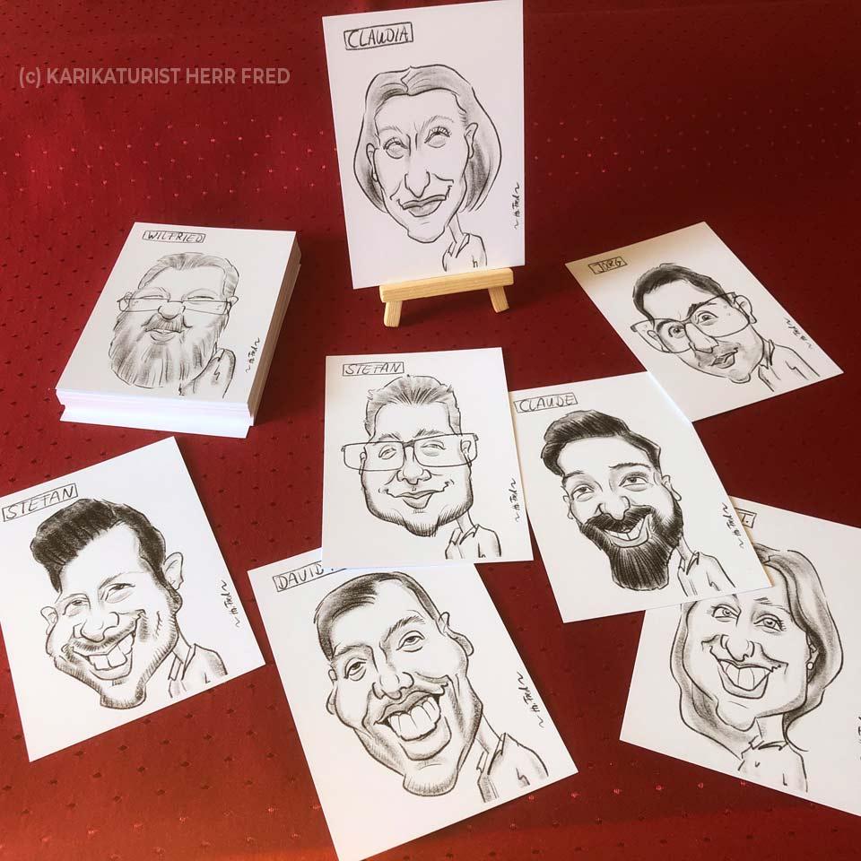 Tischkarten Hochzeit Karikatur zeichnen lassen